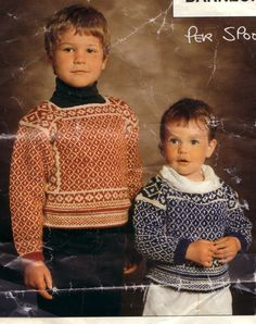 Per Spook barn Viking Pattern, Vintage Knitting, So Little Time, Textile Design, Projects To Try, Textiles, Wool, Children, Barn