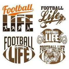 Football Life Cuttable Design Cut File. Vector, Clipart, Digital Scrapbooking Download, Available in JPEG, PDF, EPS, DXF and SVG. Works with Cricut, Design Space, Cuts A Lot, Make the Cut!, Inkscape, CorelDraw, Adobe Illustrator, Silhouette Cameo, Brother ScanNCut and other software.