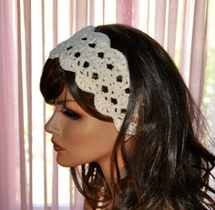 Summer Headbands Crochet Hairband  Cotton head scarf   by Cobanul, $17.00