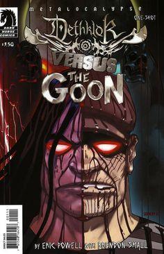 Cover for Dethklok vs. The Goon (Dark Horse, 2009 series) #[nn] [Alternate Cover by Jon Schnepp]