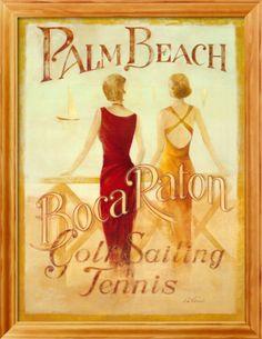 Palm Beach Ladies Framed Art Print  | Item #: 11715571A   Print no longer available