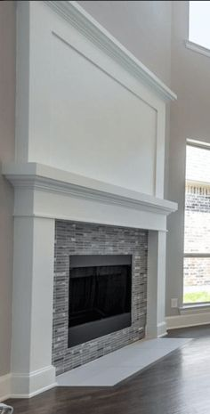 17 Stylish Fireplace Tile Ideas You Should Try for Your Fireplace fireplace_wall_tile_design_ideas<br> There many ways to decorate a fireplace. Using the proper tile is one. To help make your fireplace more attractive, we listed 17 fireplace tile ideas Fireplace Tile Surround, Fireplace Update, Farmhouse Fireplace, Home Fireplace, Fireplace Remodel, Brick Fireplace, Living Room With Fireplace, Fireplace Surrounds, Fireplace Design