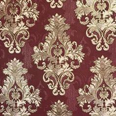 House of Hampton Rayner L x W Wallpaper Roll Colour: Burgundy Victorian Wallpaper, Damask Wallpaper, Paper Wallpaper, Textured Wallpaper, Wallpaper Roll, Wallpaper Samsung, Antique Wallpaper, Wallpaper Space, Wallpaper Harry Potter
