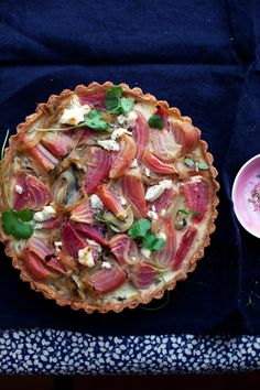 roasted beet, caramelized onion and goat cheese tart | gluten-free