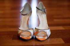 Flirty Wedding Shoe  photo by:  Jennifer Davis Photography