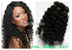 Spiral Curl 3pcs lot and mix length Brazilian Virgin Hair Weave Human Hair Extension Natural color