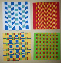Classroom Art Projects, Craft Projects For Kids, Paper Plate Art, Paper Art, Art Activities For Kids, Art For Kids, Paper Weaving, Fence Weaving, Summer Arts And Crafts