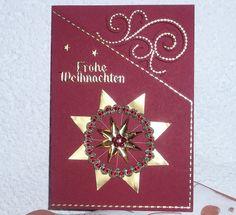 Schöne,   edle Weihnachtskarte mit Stern als Deko