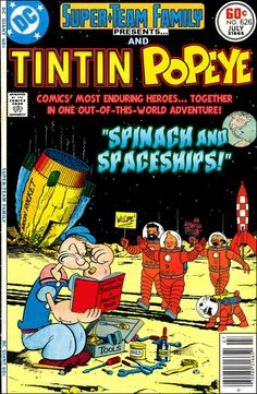 Super-Team Family: The Lost Issues!: Tintin and Popeye