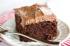 Chocolate Dump-It Cake with Chocolate Cream Cheese Frosting - options: 3/4 cocoa powder in place of 5 oz unsweetened chocolate, 1/2 cup oil in place of 1/2 cup butter - frosting option: 1/2 cup butter, 1/4 cup cocoa powder, 1 lb powdered sugar, 6 tbsp buttermilk,1 tsp vanilla extract