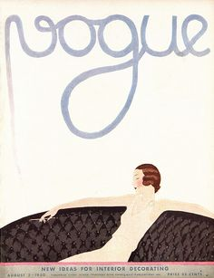 vogue august 1930 Love old magazine covers, advertisements, and posters!