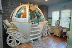 Princess Carriage Bed Baby Pinterest Princess Carriage Room Baby And  Toddler Rooms