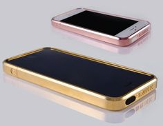 Brikk Haven iPhone 5 cases in Pink or Yellow Gold. / #luxury