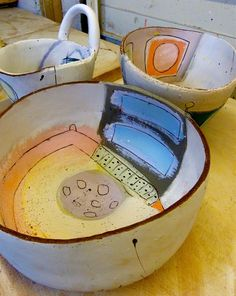 Work in progress February 2013 - http://www.lindastylesceramics.co.uk/ceramicvessels