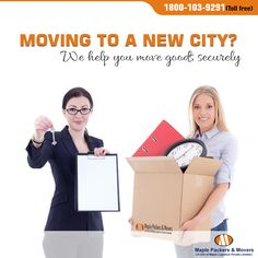 Moving to a new city  we help you move goods securely