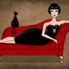 """""""Red couch"""" by Vian"""