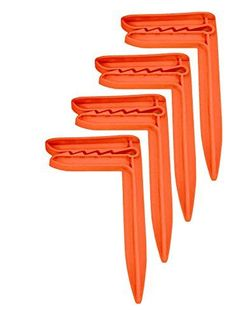 Camping Towels - McKay 6 Secure Hold Towel Stakes for Sand MultiPurpose Traveling Tool for Outdoor Camping Picnics on a Blanket or Mat and for Holding Down Tarps on Cars  Boats Orange 4 Pack -- More info could be found at the image url.