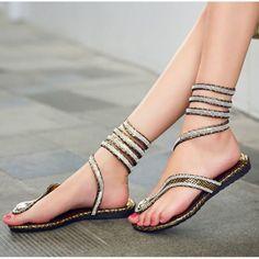 d69bd2bdcee2 Details about Stylish Womens Flat Heel Bling Rhinestone slingbacks  gladiator Sandals shoes