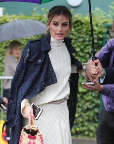 Olivia Palermo – Arriving at Wimbledon 07/15/2017