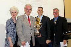 Accepting on behalf of Josh Hall - Lottie Eaton Sanders, Michael D. Sanders and Coach Sean Hanrahan 2013