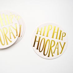 Hip Hip Hooray Coasters
