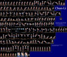 Chun-Li sprite sheet