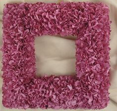 "Pink Parchment Hydrangea 12"" Frame"