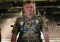 Jordan's King Abdullah in an army uniform taken from the King's facebook account after he swore to increase war against ISIS