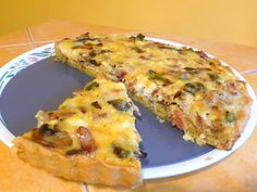 SPLENDID LOW-CARBING BY JENNIFER ELOFF: BACON COTTAGE QUICHE - The cottage cheese and mix of Mozzarella and Swiss cheese worked so well together.  Visit us at: https://www.facebook.com/LowCarbingAmongFriends/