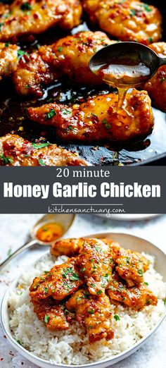 Low Carb Recipes To The Prism Weight Reduction Program 20 Minute Honey Garlic Chicken Minimal Ingredients, Easy To Prep, Tastes Amazing Easy Chicken Recipes, Asian Recipes, Healthy Meat Recipes, Keto Chicken, Honey Chicken Sauce, Rotisserie Chicken, Chicken Recipes With Honey, Lunch Ideas With Chicken, Healthy Dinner With Chicken