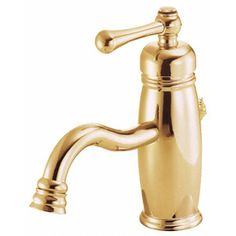 Danze Opulence Polished Brass 1-Handle Single Hole WaterSense Bathroom Sink Faucet (Drain Included)