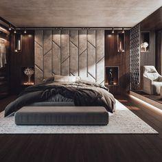 Modern Luxury Bedroom, Master Bedroom Interior, Luxury Bedroom Design, Room Design Bedroom, Luxury Rooms, Bedroom Furniture Design, Luxurious Bedrooms, Bed Headboard Design, Home And Deco