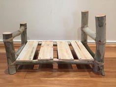 Log bed newborn photography prop