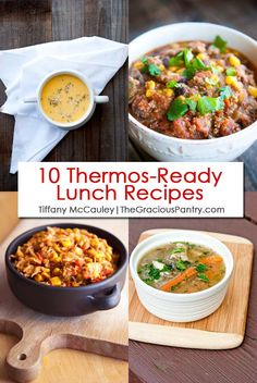 Four of the 10 clean eating thermos ready lunch recipes on the list. Healthy Sweet Snacks, Nutritious Snacks, Easy Healthy Breakfast, Easy Healthy Recipes, Lunch Recipes, Easy Meals, Healthy Soup, Healthy Meals, Soup Recipes