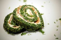 Kuchnia Bazylii: Roladki ze szpinaku z łososiem i twarogiem