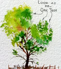 easy watercolor paintings for beginners trees - Google Search
