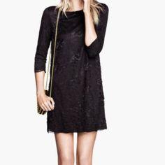 H&M Black Lace Dress - 3/4 Length
