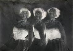 Museum Meditations 8 (Trio), 2012 Digital C-print, diasec, wooden frame 60 x 42 cm Jorma Puranen Finland Pho, Wooden Frames, Finland, Meditation, Museum, Digital, Artist, Painting, Wood Frames