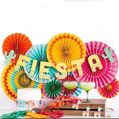 Bannière fête Fiesta Fiesta décor Fiesta mexicaine
