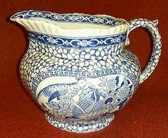 VINTAGE STAFFORDSHIRE ADAMS CHINESE BIRD MILK PITCHER 1930's Aesthetic Movement, Brown Aesthetic, Italian Flowers, Crane Bird, Garden Urns, Blue Bowl, Japanese Porcelain, Blue China