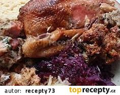 Kachna s nádivkou - nejen velikonoční recept - TopRecepty.cz Beef, Chicken, Food, Meals, Yemek, Steak, Cubs, Eten
