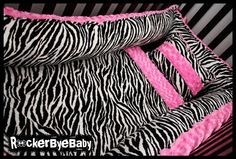 Punk Animal paisley or baroque print FOUR PIECE crib bedding set baby bedding made of minky and satin pick from leopard zebra giraffe cow print AND MUCH MORE. $350.00, via Etsy.