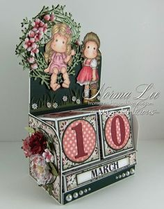 From My Craft Room: Perpetual Calendar Blocks - Magnolia-licious Blog Hop