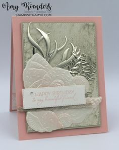 Stampin' Up! Friends Are Like Seashells Pink Birthday Card With Video Tutorial – Stamp With Amy K Pink Birthday, Happy Birthday Me, Birthday Cards, Beach Cards, Friends Are Like, Some Cards, Catalogue, Stampin Up Cards, I Card