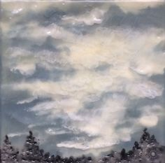 light through the clouds  4x4  original by DaisySkyStudio on Etsy
