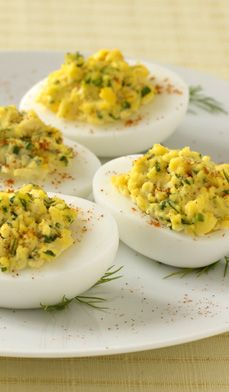 Garden Herbed Deviled Eggs - Here's a party appetizer made just for fresh garden herbs—deviled eggs with a twist.