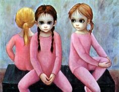 Margaret Keane's wonderful painting reminds me of my twin granddaughters, Summer and Sienna, though both have dark hair,