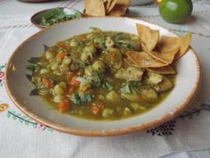 Green Chile Chicken Stew With Hominy