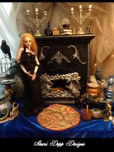Handmade Magical Dragon Fireplace Set with by ShariDeppDesigns, $199.00