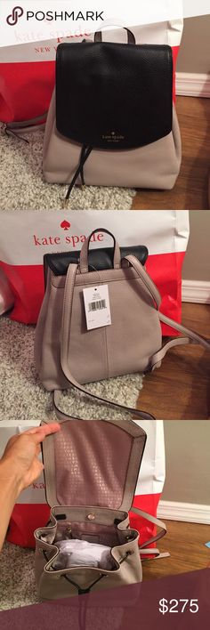 ♠️Kate Spade Small Breezy♠️ ⭐️NWT Kate Spade Small Breezy Bucket Bag⭐️ ♠️This is a backpack style bucket bag.. Color is mousefro/ black.. Drawstring Close♠️Backpack straps are adjustable♠️One inside zippered pocket.      Really cute bagNO TRADES.        Less on Ⓜ️ kate spade Bags Backpacks